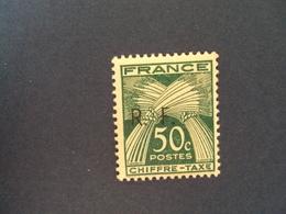 "1943-LIBERATION    "" GIRONDE""    Timbre Taxe Type 1 N° 13       - Neuf-  Cote  6         - Net     2 - Libération"