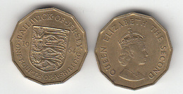 Jersey Coin -3d 1964 (1/4 Of Shilling) - Jersey