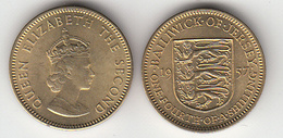 Jersey Coin -3d 1957 (1/4 Of Shilling) - Jersey