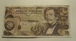 1967 - Autriche - Austria - 20 SCHILLING - Wien, 2 Juli 1967 - G 369768 V - Austria