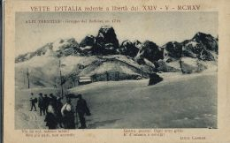 GRUPPO BAFFELAN ALPI TRENTINE 1918 PATRIOTTICA VERSI POETA CARRER - Andere Städte