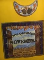 7999 -  Johannisberg Vendangé à La Porte De Novembre 1962 Robert Gilliard Sion Suisse - Etiquettes