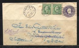 USA, 1919   To  Switzerland - Etats-Unis