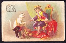 CHROMO Librairie Hte Duthu Bordeaux   Lith.  Bognard     Calendrier 1878    Le Chat Botté Conte Calendar - Autres