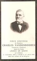 DP. CHARLES VANDENDOOREN ° RENAIX 1840- + 1909 - CONSEILLER COMMUNAL - Religion & Esotérisme