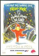 """Carte Postale édition """"Promocartes"""" - Le Nouveau Monde Sur Glace - Spectacle De Noël (Air France - La Poste) - Publicité"""