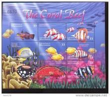 MICRONESIA   399 MINT NEVER HINGED MINI SHEET OF FISH-MARINE LIFE  #  M-538-2   ( - Meereswelt