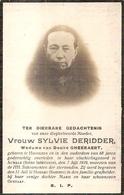 DP. SYLVIE DERIDDER ° HOOGLEDE  + IN HAAR VLUCHTINGSOORD AUMALE 1919 - 68 JAAR - Religion & Esotérisme
