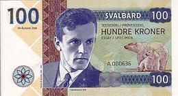 Norvège Svalbard 100 Kroner  2018  Spécimen UNC  Helge Marcus Ingstad - Norway