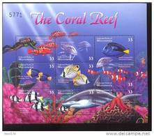 MICRONESIA   400  MINT NEVER HINGED MINI SHEET OF FISH-MARINE LIFE  #  M-538-3   ( - Meereswelt