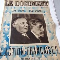 """Juillet 1935 - """"LE DOCUMENT"""" - L'ACTION FRANÇAISE Par Simon Arbellot - - Vieux Papiers"""