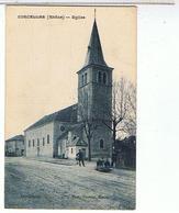 69.  CORCELLES    EGLISE  + PERSONNAGE - France