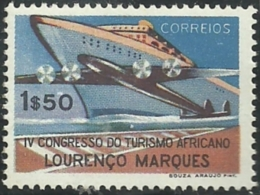 Mozambique Moçambique 1952 4th African Tourism Congress Plane And Ship MNH - Holidays & Tourism