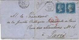 Pli  De Londres Avec Duplex Expérimental à Tête Carrée, 1858 - 1840-1901 (Victoria)