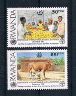 Ruanda 1992 Mi.Nr. 1453 B/C Ungestempelt - Rwanda