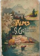 A Travers Les Alpes Par Le Chemin De Fer Du Saint Gothard Georges CATLIN Institut Orell Füssli 1902 - Tourism