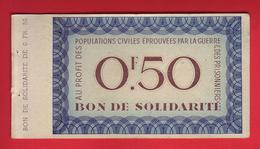 FRANCE - Bon De Solidarité De 0,50. Guerre. - Bonds & Basic Needs
