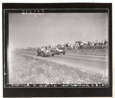 < Auto Voiture Car > Retirage 10 X 13 De Plaque Photo De Verre F1 Fangio GP Europe 1953 - Reproductions