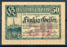 Österreich  Kat. Nr: 7  Wien, Kassenschein Der Stadtgemeinde Wien  1919  50 Heller - Oesterreich