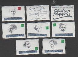 France 1993 Neufs Série Complète  Célébrité Ecrivain Littérature Poésie - France