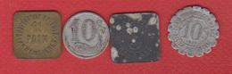 Monnaies De Nécessité  / Lot De 4 : Armentières , La Rochelle, Société Générale, Région Provençale - Monetary / Of Necessity