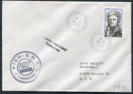 1991 T.A.A.F. France Antactic Antarctica Dumont D'Urville FISH S.N.C. L'Astrolabe Cover - French Southern And Antarctic Territories (TAAF)