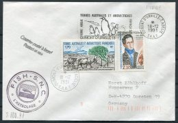 1991 T.A.A.F. France Antactic Antarctica Dumont D'Urville FISH S.N.C. L'Astrolabe Cover. Penguin Slogan - French Southern And Antarctic Territories (TAAF)