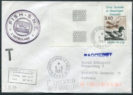 1993 T.A.A.F. France Antarctic Antarctica Dumont D'Urville FISH S.N.C. L'Astrolabe Expedition Paquebot Cover - French Southern And Antarctic Territories (TAAF)