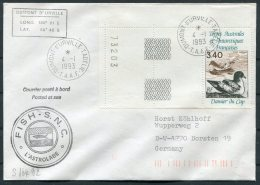 1993 T.A.A.F. France Antarctic Antarctica Dumont D'Urville FISH S.N.C. L'Astrolabe Expedition Cover - French Southern And Antarctic Territories (TAAF)