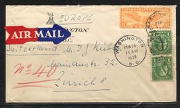 USA, 1938,  To Switzerland / Zürich - Etats-Unis