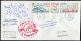 1992 T.A.A.F. France Antarctic Antarctica Dumont D'Urville CNN FISH L'Astrolabe Signed Expedition Ship Cover - French Southern And Antarctic Territories (TAAF)