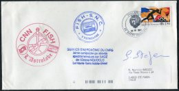 1992 T.A.A.F. France Antarctic Antarctica Brest FISH S.N.C. L'Astrolabe Expedition Ship Cover - French Southern And Antarctic Territories (TAAF)