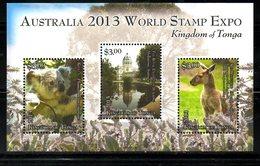 TONGA, 2014, ANIMALS, AUSTRALIA, S/S, MNH** - Stamps