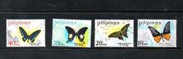 PHILIPPINES, 1969, BUTTERFLIES, 4v. MNH** - Butterflies