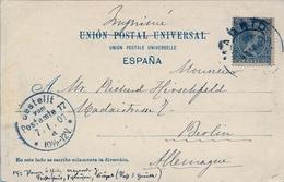 1901 , MADRID - BERLIN , ED. 216 , TARJETA POSTAL VELÁZQUEZ , SAN ANTONIO Y SAN PABLO , HAUSER Y MENET Nº 503 - Lettres & Documents