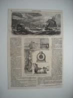 GRAVURE 1866. POMPE CENTRIFUGE DE MM. L. COIGNARD ET CIE, DE VAUGIRARD-PARIS. CYCLONE DANS LE GOLFE DU BENGALE. - Estampes & Gravures
