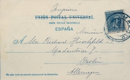 1900 , MADRID - BERLIN , ED. 216 , TARJETA POSTAL VELÁZQUEZ , ESOPO , HAUSER Y MENET Nº 519 - Lettres & Documents