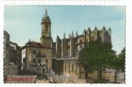 CPSM ,Espagne ,N°4, Lequeitio , Basilica De Sta. Maria , Ed. G.G. - Spain