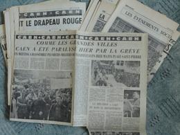CAEN Et LISIEUX (Calvados) MAI 1968 .Lot De Coupures De Presse Ouest-France,Liberté,Paris Normandie - Histoire