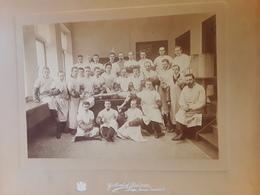 GRANDE FOTO ANCIENNE UNIVERSITE LIEGE FACULTE DE MEDECINE MEDECIN DOCTEUR MÉTIER AFMETINGEN 27 CM OP 33 CM - Métiers