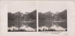 Stereofoto DER RHEIN - Biehrich Die Moosburg Im Schlosspark, Photogr. Steglitz Berlin 1904, Fotoformat Ca.18 X 8,8 Cm - Stereoscopic