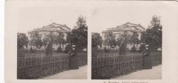 Stereofoto DRESDEN - Königl.Schauspielhaus, Photogr. Steglitz Berlin 1903, Fotoformat Ca.18 X 8,8 Cm, Gebrauchsspuren - Stereoscopic