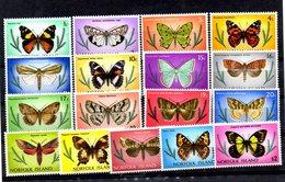 NORFOLK, 1976, BUTTERFLIES 17v. MNH** - Butterflies