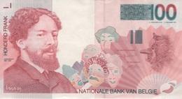 (B0681) BELGIUM, 1995-2001 (ND). 100 Francs. P-147. XF - [ 2] 1831-... : Belgian Kingdom
