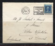 USA, 1932  To Switzerland  / Rikon - Effretikon - Etats-Unis