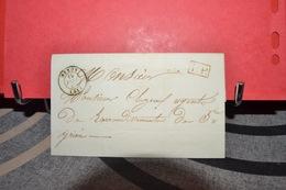 LETTRE  CAD NEXON 19 FEV 47 (81) CAD PP EN ROUGE ET CAD ST YRIEX 20 FEVR 1847 (81) - Postmark Collection (Covers)