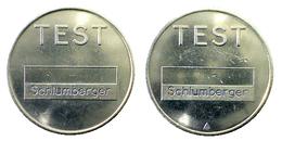 02011 GETTONE JETON TOKEN PARCHEGGIO PARKING PARKMUNZE TEST SCHLUMBERGER - Allemagne