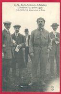 Albert Kimmerling, à Son Arrivée De Dijon, Ecole Nationale D' Aviation, Aérodrome De Bron Lyon, Rhône (69) - Aviateurs