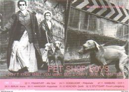 Carte Postale - Pet Shop Boys - On Tour - Entertainers