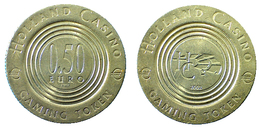 03044 GETTONE JETON TOKEN THE NETHERLANDS GAMING HOLLAND CASINO 0.50 EURO - Casino